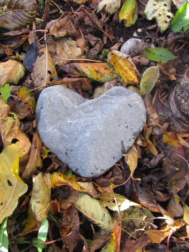 autumn heart stone